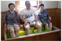 接骨院よこやま足、温浴治療